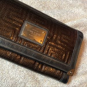 Used Gianni Versace brown patent leather wallet